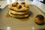 Buttermilk Pancakes with pan roasted lady apples