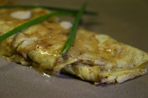 Day 15: French Omelet with Truffle Butter and Brie