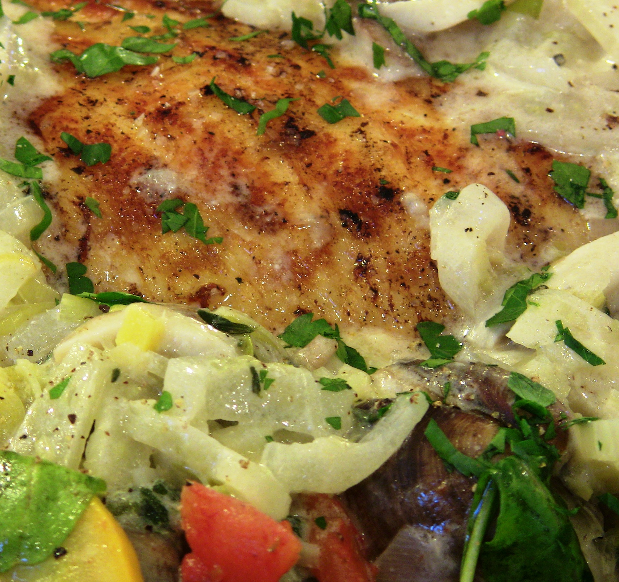 Pan Seared Chilean Sea Bass over Wilted Arugula Salad with ...