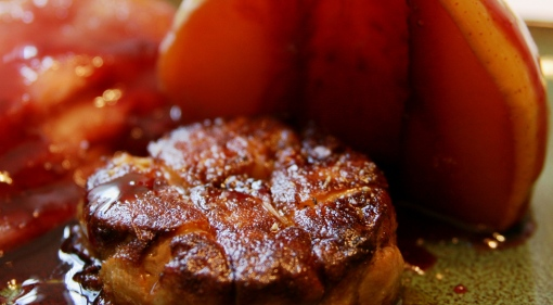 Seared Torchon of Foie Gras with Pears