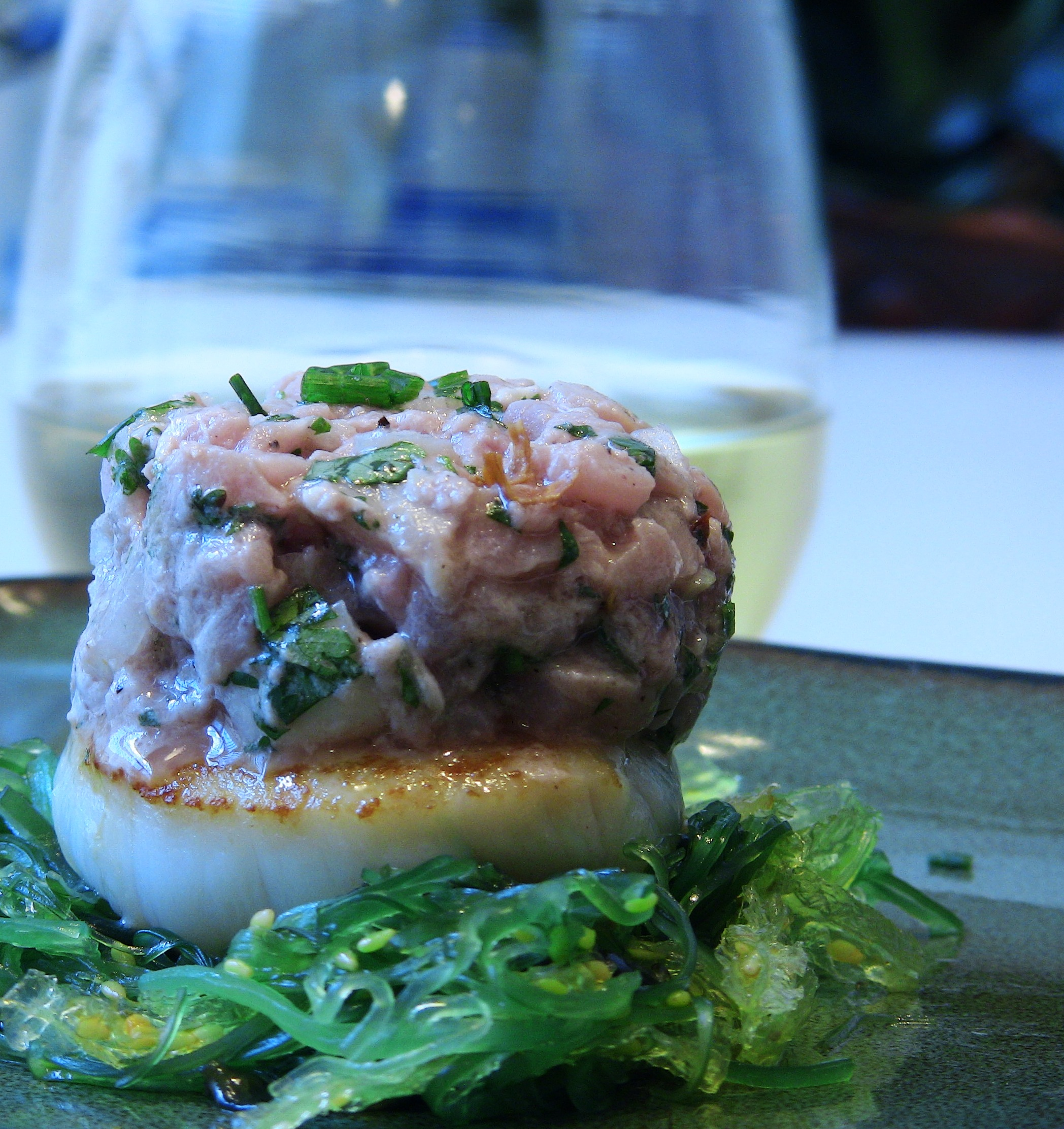 Asian Tuna Tartare over Seared Scallop | Dr. Mike