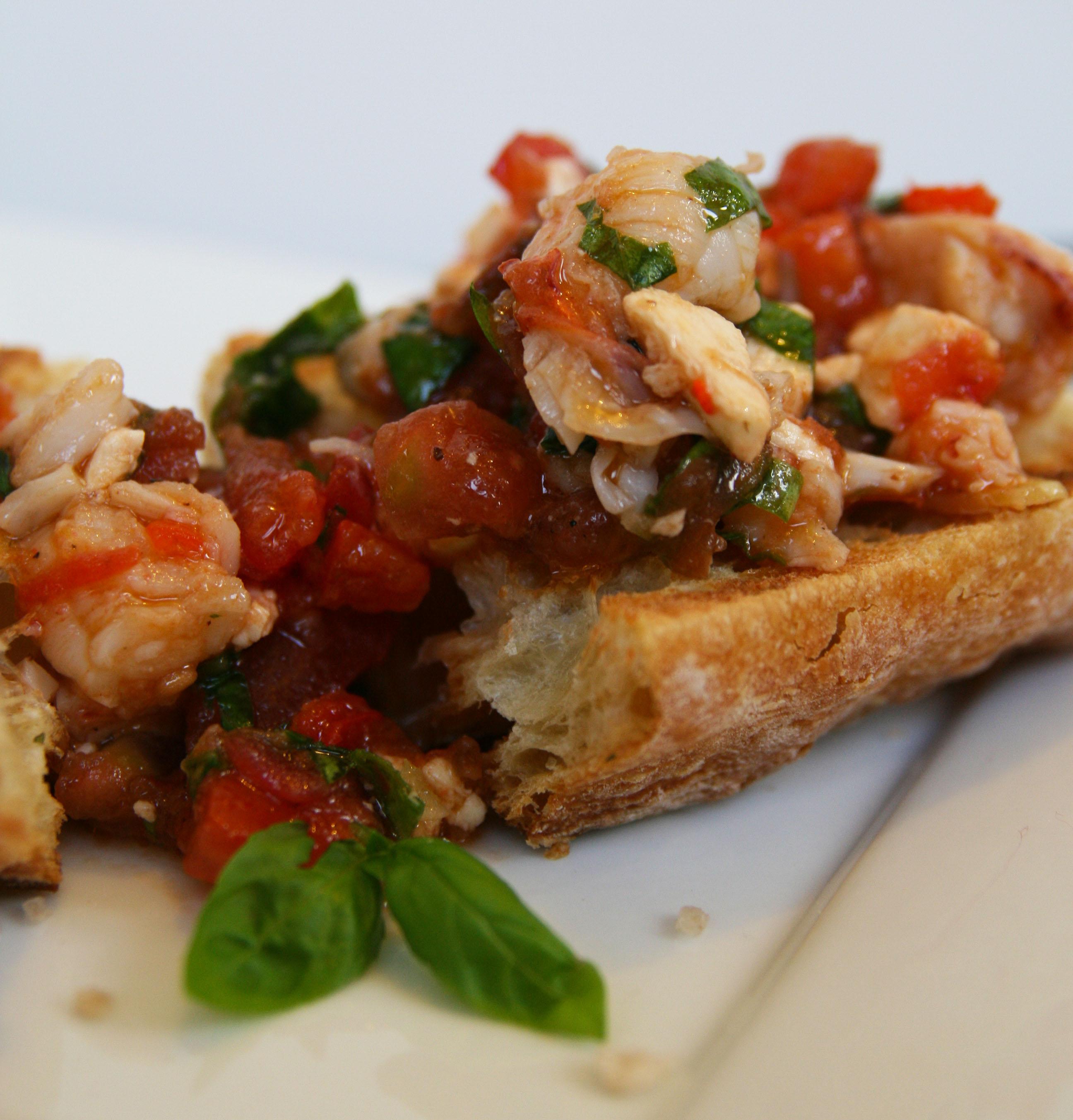 Lobster Bruchetta